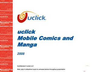 uclick Mobile Comics and Manga 2008