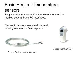 Basic Health - Temperature sensors