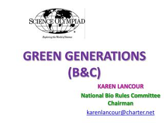 GREEN GENERATIONS (B&C)