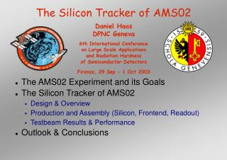 The Silicon Tracker of AMS02