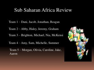Sub Saharan Africa Review