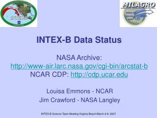 Louisa Emmons - NCAR Jim Crawford - NASA Langley