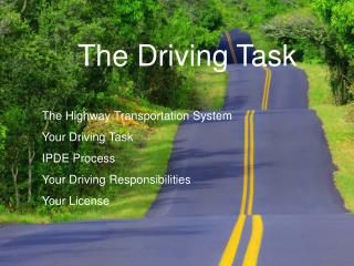 The Driving Task