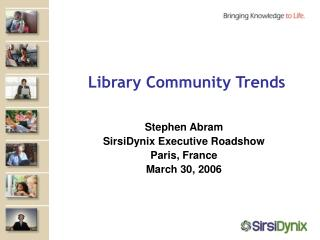 Library Community Trends
