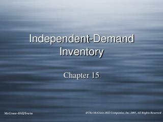 Independent-Demand Inventory
