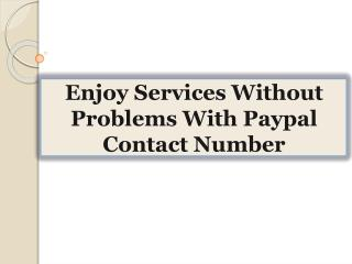 Enjoy Services Without Problems With Paypal Contact Number
