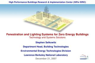 High Performance Buildings Research & Implementation Center (HiPer BRIC)