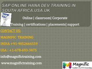Sap online hana dev training in south africa,usa,uk