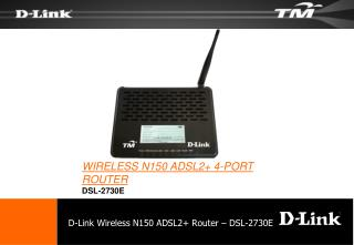 D-Link Wireless N150 ADSL2+ Router – DSL-2730E