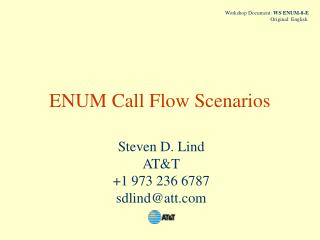 ENUM Call Flow Scenarios