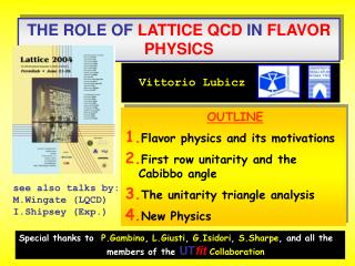 THE ROLE OF  LATTICE QCD  IN  FLAVOR PHYSICS