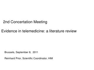 2nd Concertation Meeting