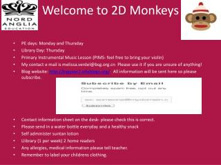 Welcome to 2D Monkeys