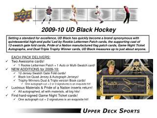 2009-10 UD Black Hockey