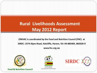 Rural  Livelihoods Assessment May 2012 Report