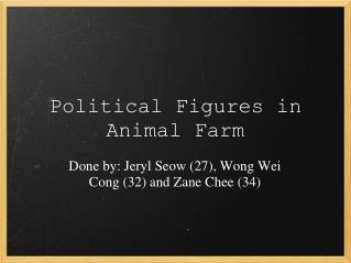 Political Figures in Animal Farm