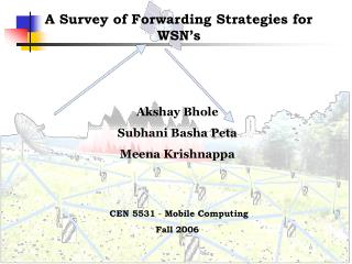 A Survey of Forwarding Strategies for WSN's