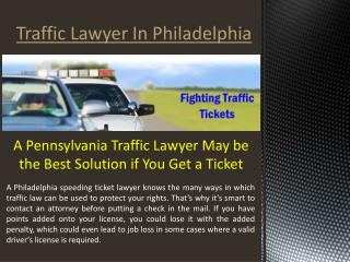 Fighting Traffic Tickets