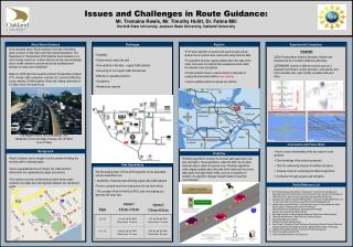 Issues and Challenges in Route Guidance: