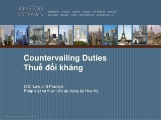 Countervailing Duties Thuế đối kháng