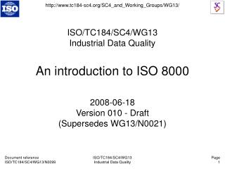 An introduction to ISO 8000