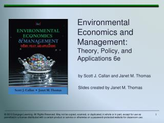 Environmental Economics and Management: Theory, Policy, and Applications 6e
