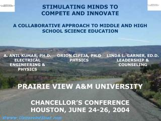 CHANCELLOR'S CONFERENCE HOUSTON, JUNE 24-26, 2004