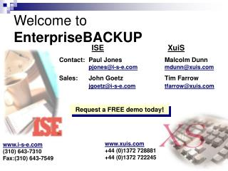 Welcome to EnterpriseBACKUP