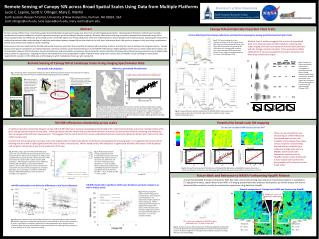 Remote Sensing of Canopy %N across Broad Spatial Scales Using Data from Multiple Platforms