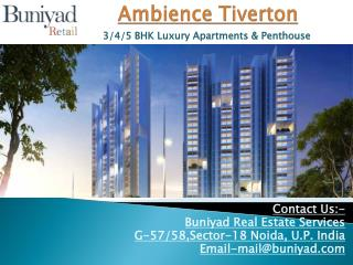 Ambience Tiverton Preeminence Apartments in Noida