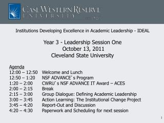 Institutions Developing Excellence in Academic Leadership - IDEAL