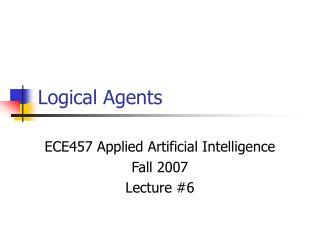 Logical Agents