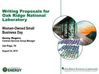 Writing Proposals for Oak Ridge National Laboratory