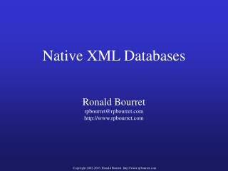 Native XML Databases
