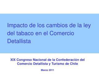 Impacto de los cambios de la ley del tabaco en el Comercio Detallista