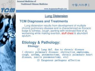 Lung Distension TCM Diagnoses and Treatments