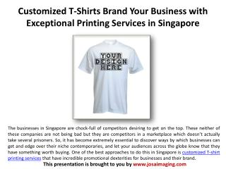 Brand Your Business with Customized T-Shirts PrintingService