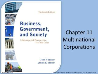 Chapter 11 Multinational Corporations
