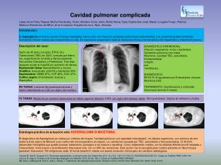 Cavidad pulmonar complicada