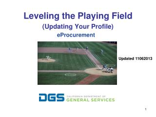 Leveling the Playing Field (Updating Your Profile)
