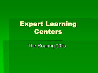 Expert Learning Centers