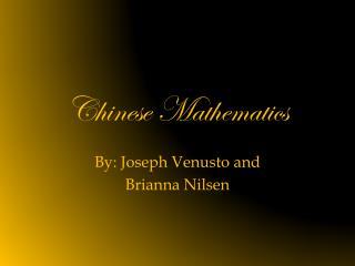 Chinese Mathematics
