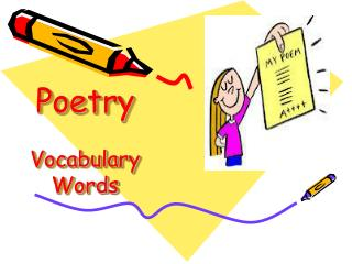 Poetry Vocabulary Words