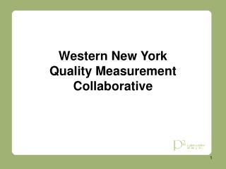 Western New York Quality Measurement Collaborative
