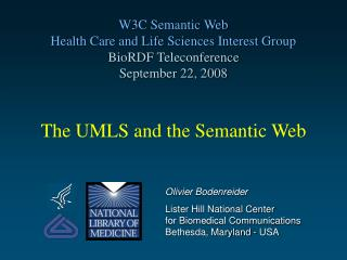 The UMLS and the Semantic Web