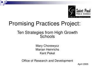 Promising Practices Project: