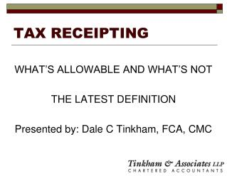 TAX RECEIPTING