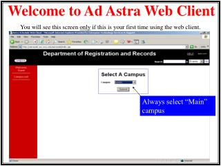 Welcome to Ad Astra Web Client