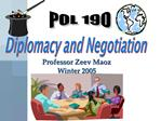 Diplomacy and Negotiation