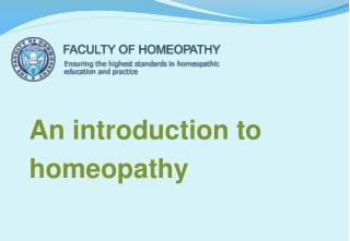 An introduction to homeopathy